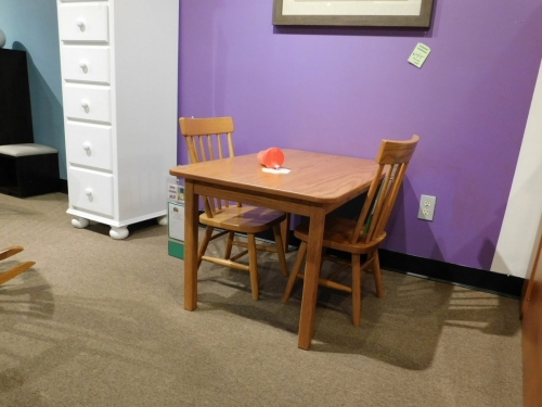Child's Rectangular Table with Square Legs
