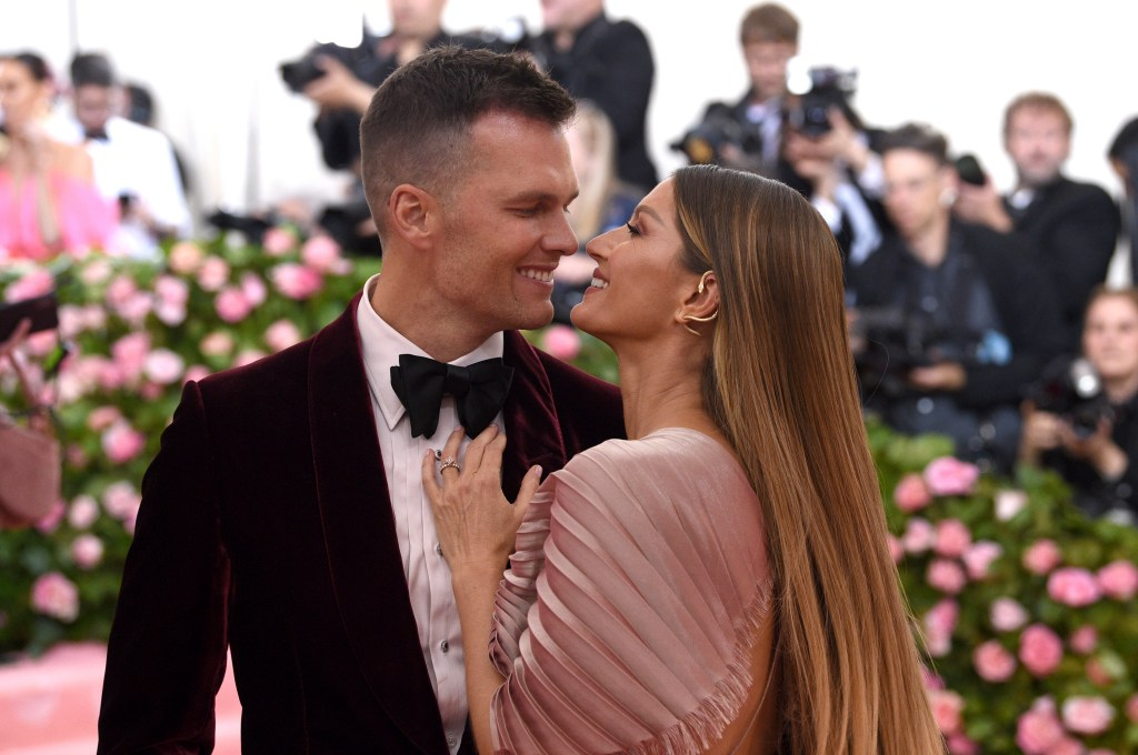 Tom Brady and Gisele Bundchen on the red carpet of The Met Gala