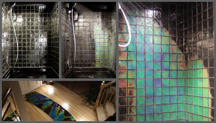 Watch Your Shower Transform From Lifeless To A Rainbow Of Color With These  Heat Sensitive Color Changing Tiles. Available In Many Different Colors And  ...