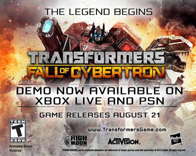 Cybertron Falls TODAY!!