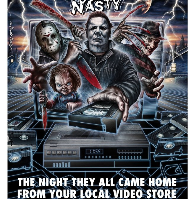 The Dude Designs presents it's 'Video Nasty' poster- raises money for Breast Cancer