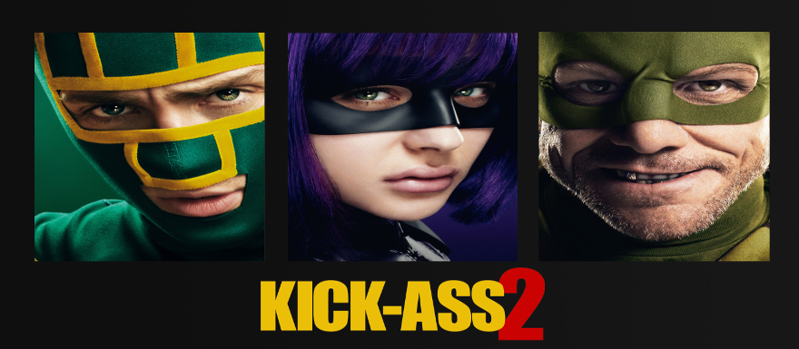 Kick-Ass 2- red band featurette and an 8-Bit version of the first film!