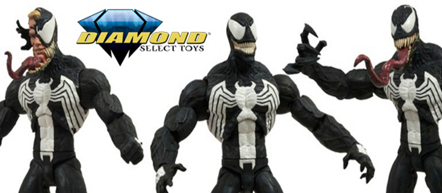 Marvel Select Venom Action Figure from Diamond Select Toys and Figures in Action Photography