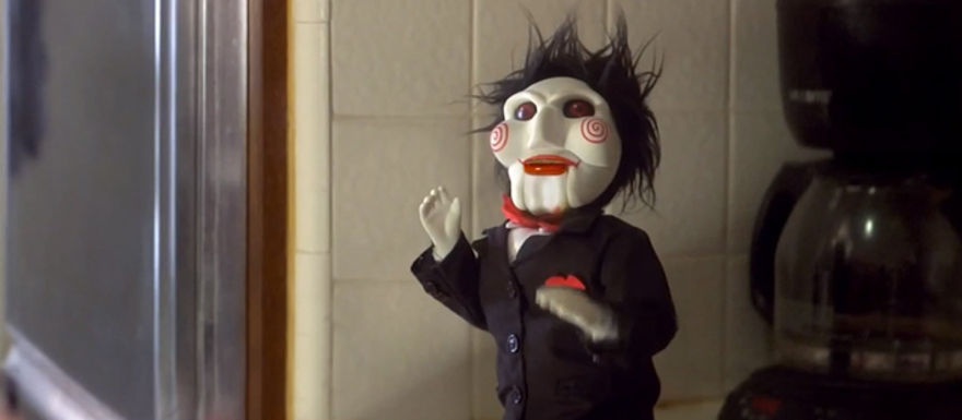 Living With Jigsaw- a hilarious Halloween spoof featuring the creepiest doll alive