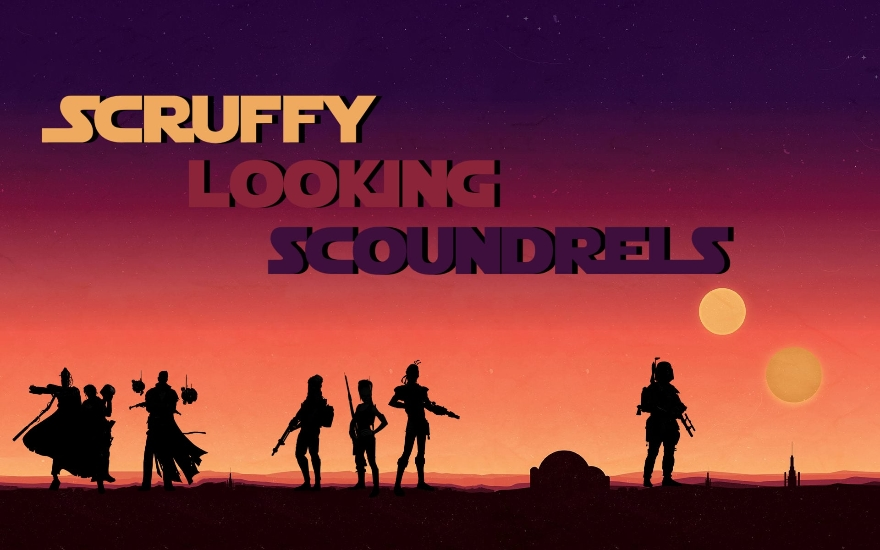 Episode I – Scruffy Looking Scoundrels premieres on The Warlock Home Video Network!
