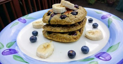 Blueberry lemon matcha pancakes with lemon butter drizzle Breakfast Dinner Lunch Popular Uncategorized