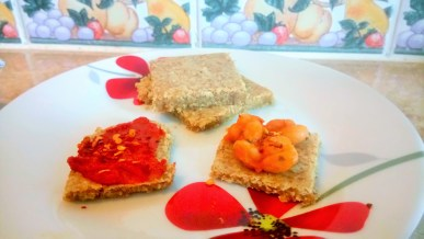 Garlic and cheese flax snacks AKA cracker surprise! Breakfast Grainfree Lunch snack