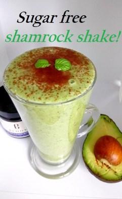 Sugar free shamrock shake Breakfast Desserts vegan