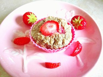 "Healthy strawberries and ""cream"" oatmeal bites (dairy free) Breakfast snack vegan"