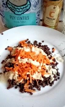 Super quick curry carrot lentil salad Dinner Grainfree Lunch vegan