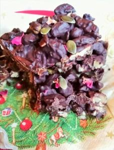 Spiced chocolate orange fruit & nut slices Desserts Grainfree vegan