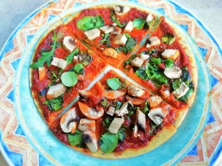 Chickpea flour pizza Dinner Grainfree Lunch vegan