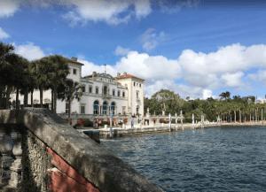 Villa Vizcaya feature a stone barge folly
