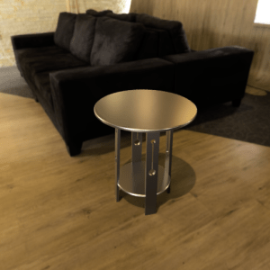 An example render with a table in a lounge room