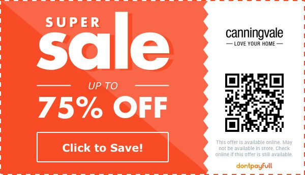 75 off canningvale coupon promo code