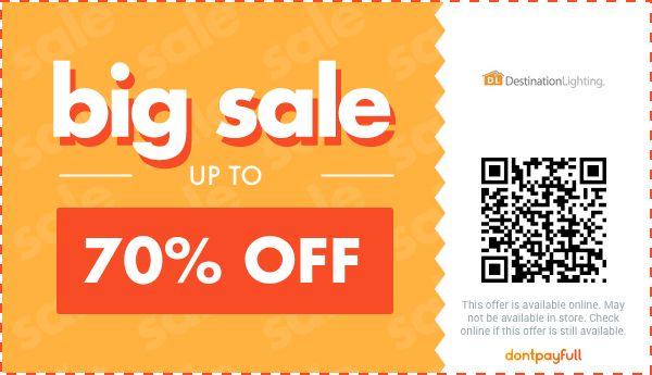 destination lighting coupons 70