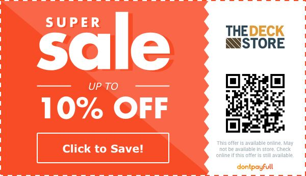 thedeckstoreonline com coupons 10 off