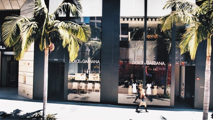 SHOPPING RODEO DRIVE, Beverly Hills, California. USA