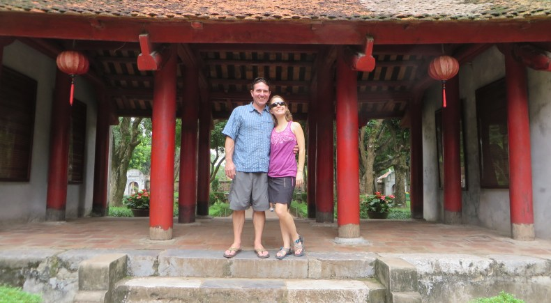 One of the gates at the Temple of Literature.