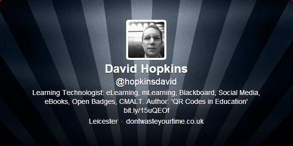 Twitter: hopkinsdavid / David Hopkins