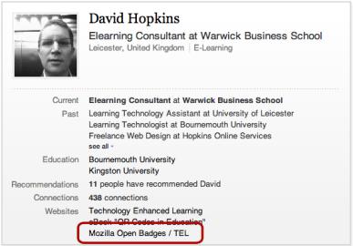 Open Badges - LinkedIn Profile