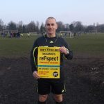 Proud referee Terry Riley who does a lot for charity hopes all clubs get behind the DXTL reFspect awareness weekend March 12th-13th