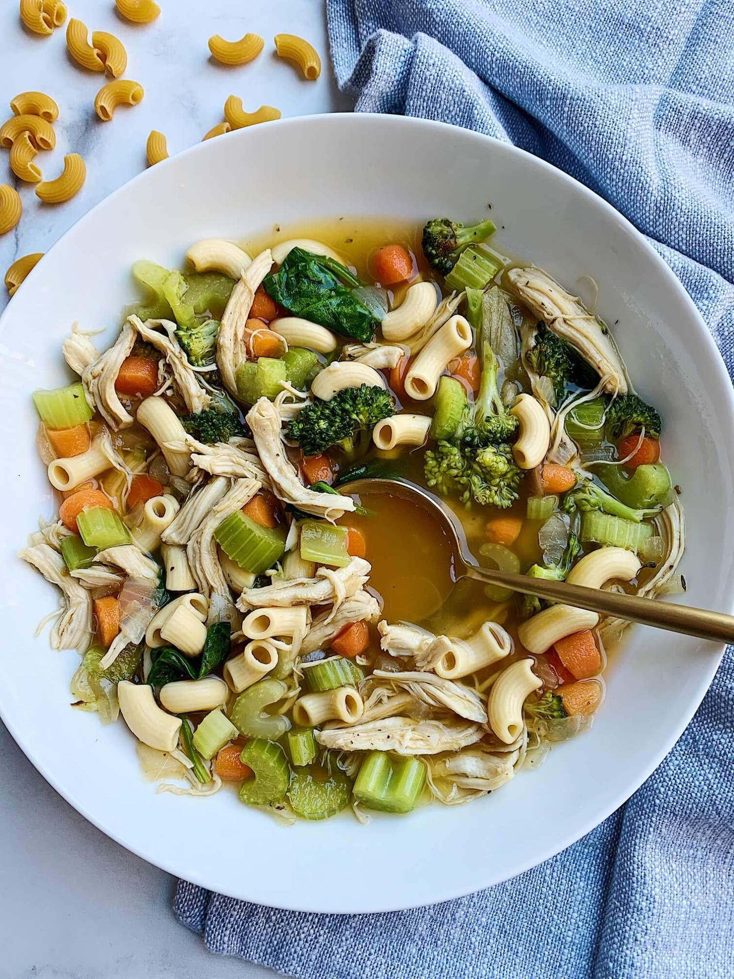 Chickpea Pasta Chicken Noodle Soup Donut Worry Be Healthy
