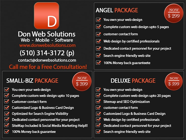Afforable Website DEsign Services  Concord CA