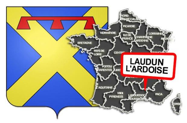 illustration pour Une borne à Laudun l'Ardoise