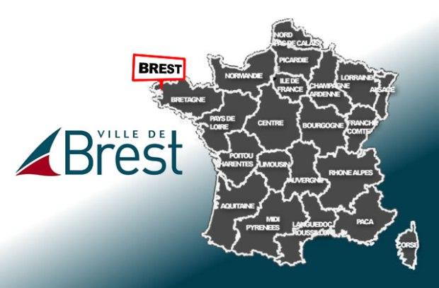 illustration pour Brest : 2 bornes à la pointe (du Finistère)
