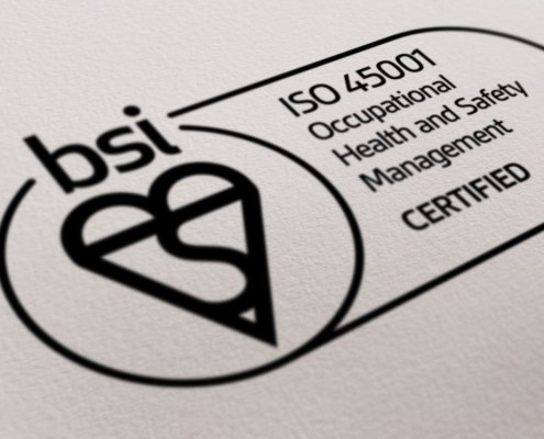 ISO45001, accreditation, achieved, doocey, group, health, safety