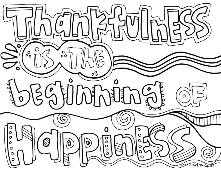 being thankful pages coloring pages