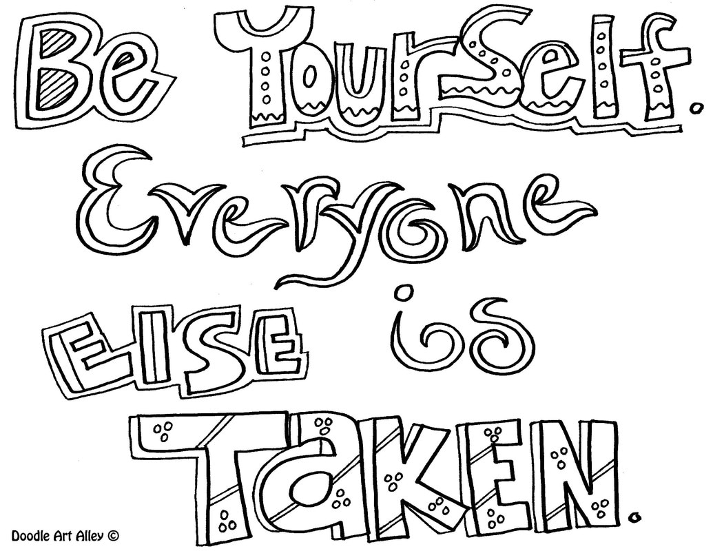 Free Coloring Pages Download Courage Quote Doodle Art Alley Of