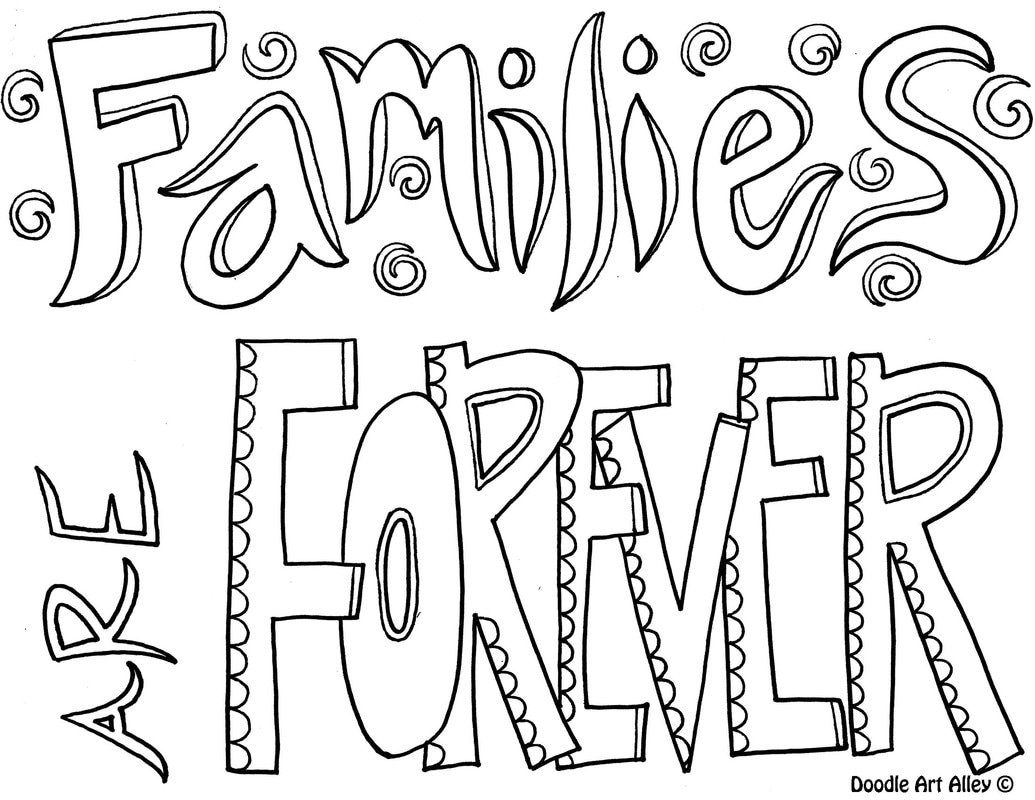 Family Quote Coloring Pages