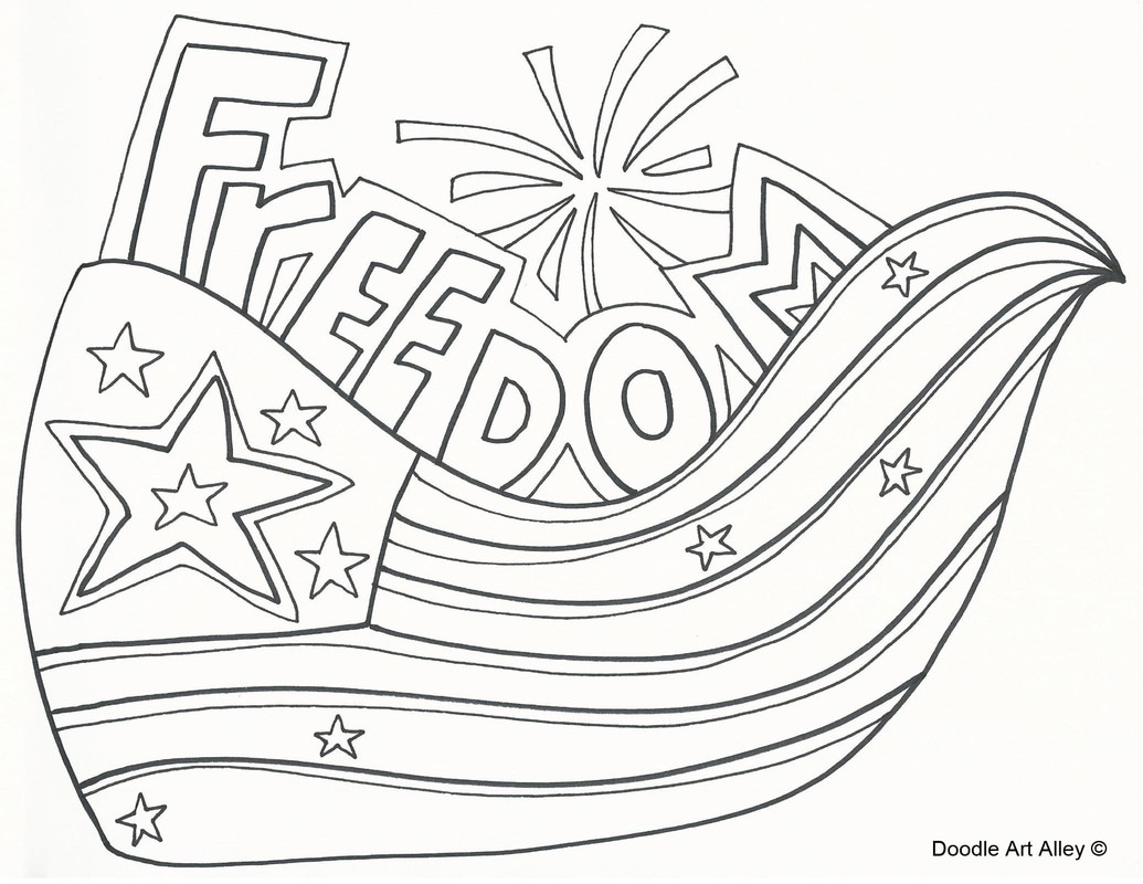 Independence Day Coloring Sheets