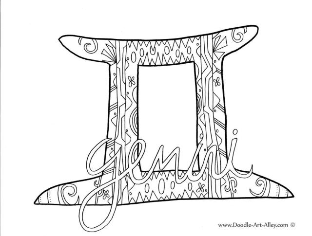 Gemini coloring pages