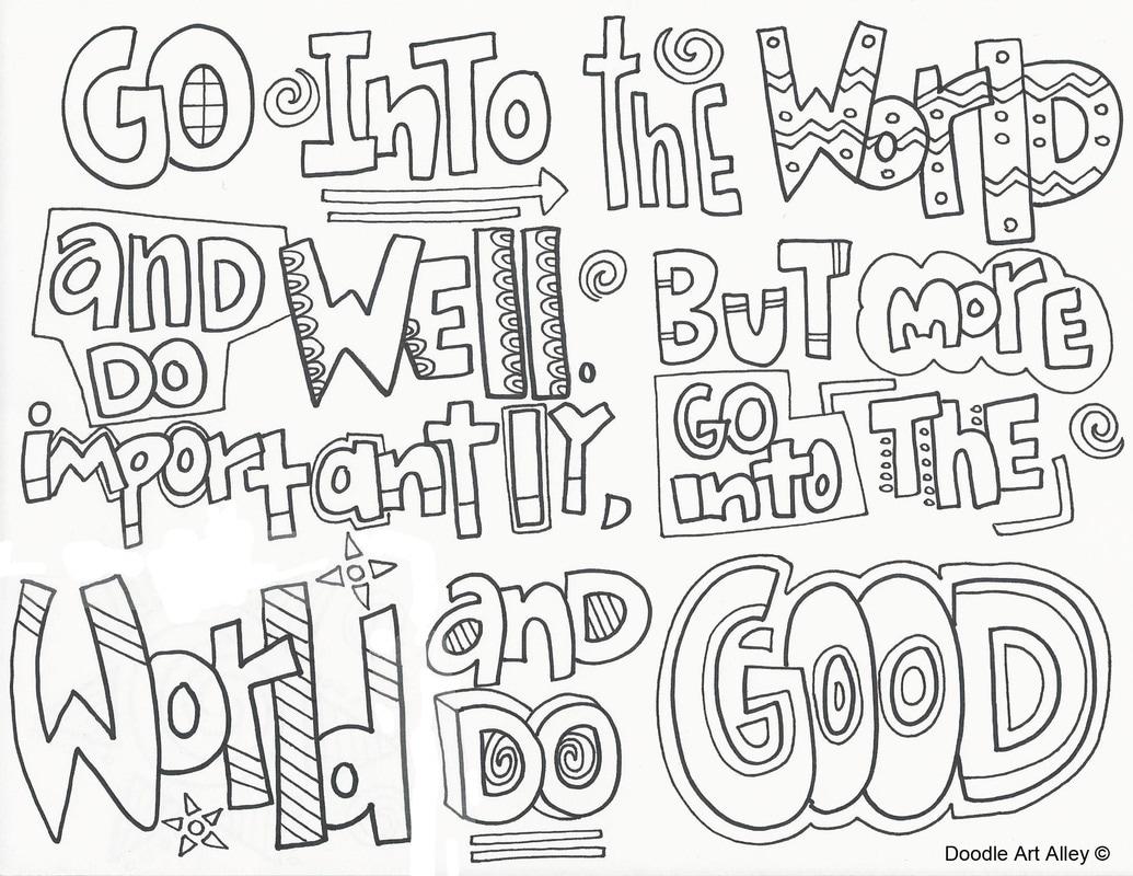 Graduation Coloring Pages Doodle Art Alley