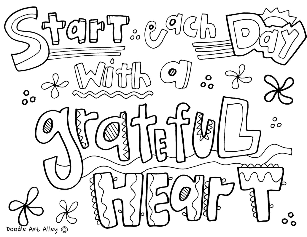 Thankful Heart Coloring Pages