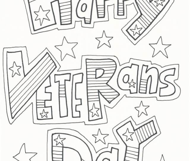 Veterans Day Coloring Pages Doodle Art Alley