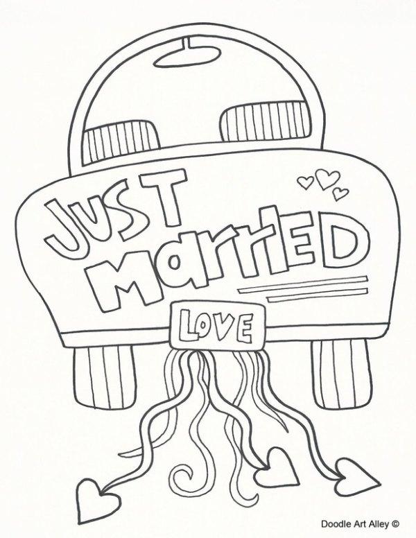 wedding coloring page # 7