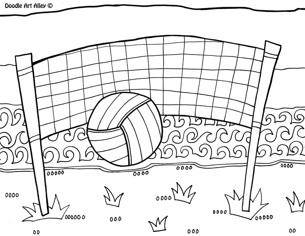 I Love Volleyball Pages Coloring Pages