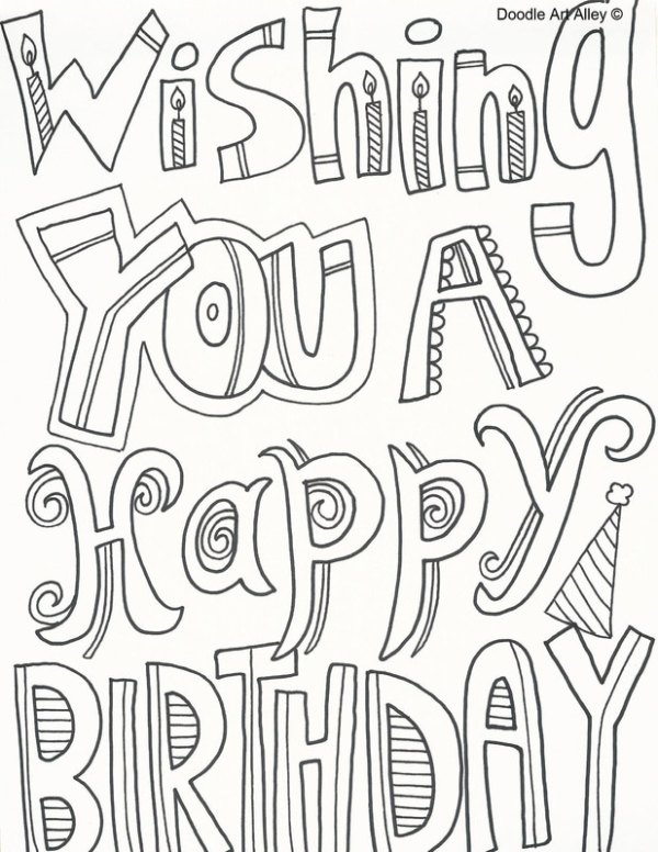 coloring pages happy birthday # 7