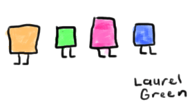 a drawing of some squares with legs