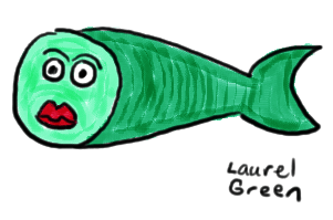 a drawing of a weird-looking fish