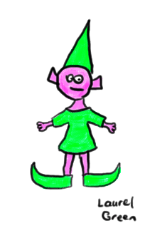 a drawing of an elf