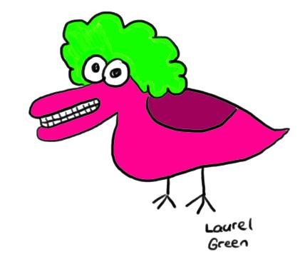 a drawing of a weird-looking bird