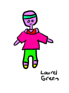 a drawing of a guy in jazzercise equipment