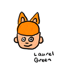 a drawing of a guy wearing a hat with cat ears