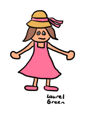 a drawing of a girl wearing her easter clothing