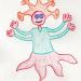 a drawing of a regal alien